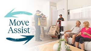 Learn about our complimentary<br /> <strong>Move Assist service</strong>