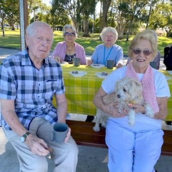 Residents with dog